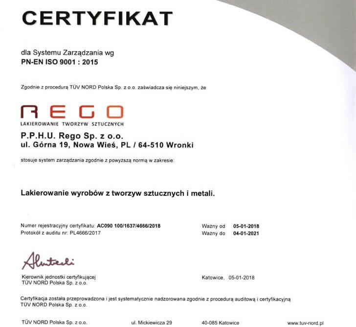 Pozytywny wynik certyfikacji PN-EN ISO 9001:2015