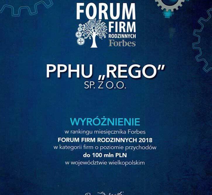 P.P.H.U. Rego sp. z o.o. jako jedna z najdynamiczniej rozwijających się firm rodzinnych w regionie.